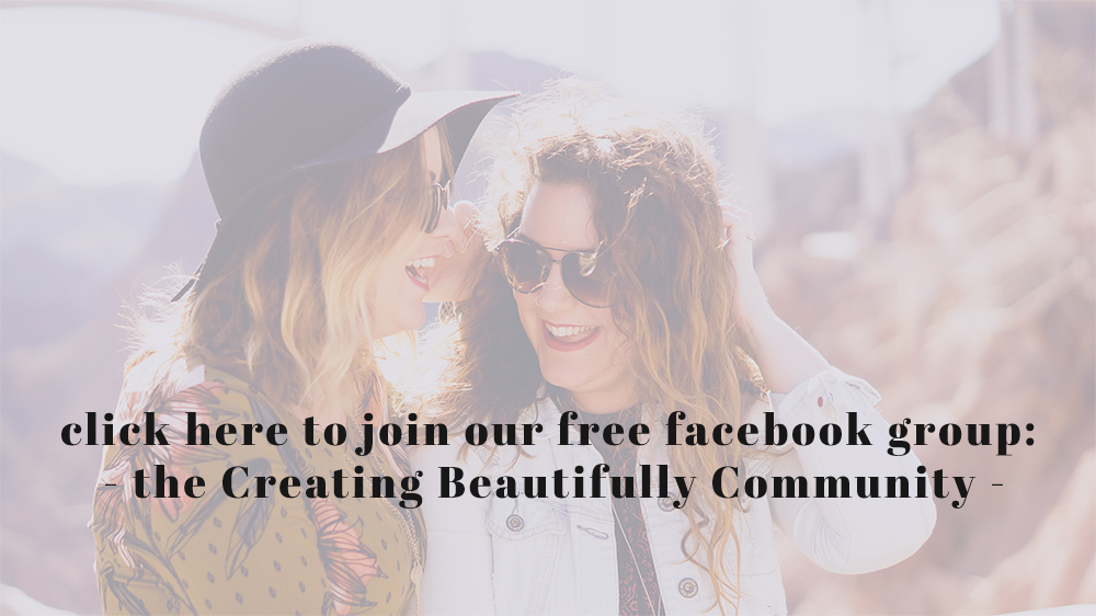 click here to join our new facebook group the Creating Beautifully Community