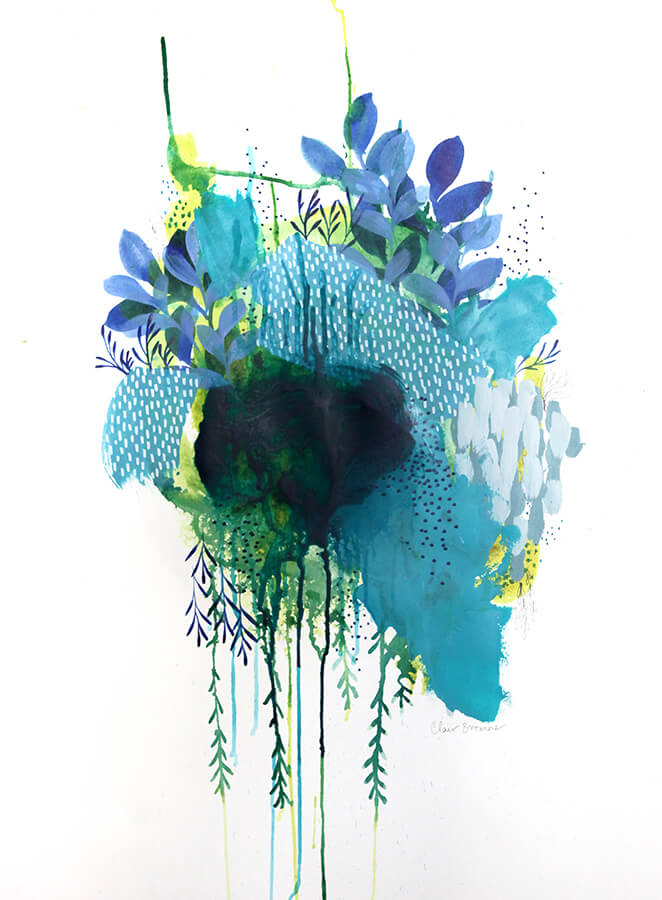Learn how Artist Clair Bremner Making Passive Income With Her Art: Floral Study Three by Clair Bremner
