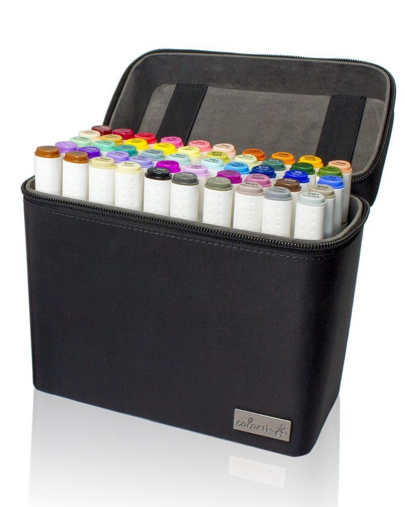 50 Dual Tip Art Markers Set For Coloring