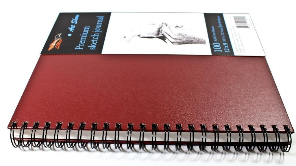 Spiral Sketch Pad Acid Free 100 Sheets 9x12 inchs Genuine Ultra Rigid Hardcover Gives All The Drawing Support You'll Need Draw Anywhere Without a Desk