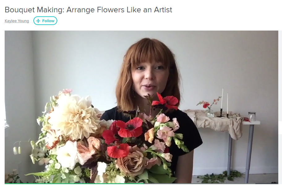FREE DIY CLASS Bouquet Making: Arrange Flowers Like an Artist by Kaylee Young
