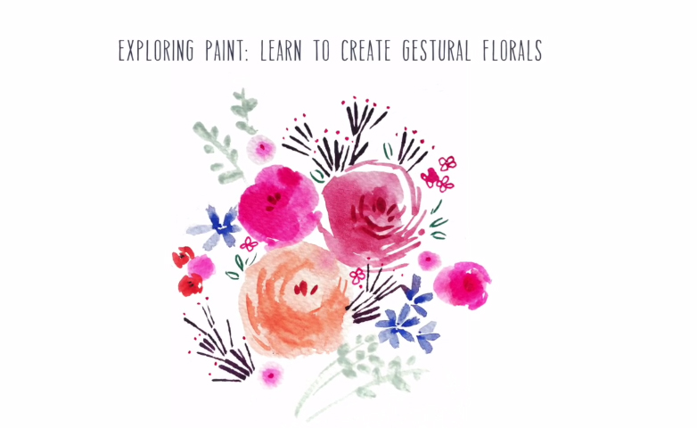 DIY WATERCOLORS: Exploring Paint: Learn to Create Gestural Florals by Victoria Johnson