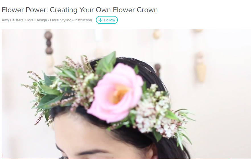 DIY FLORALS Flower Power: Creating Your Own Flower Crown by Amy Balsters