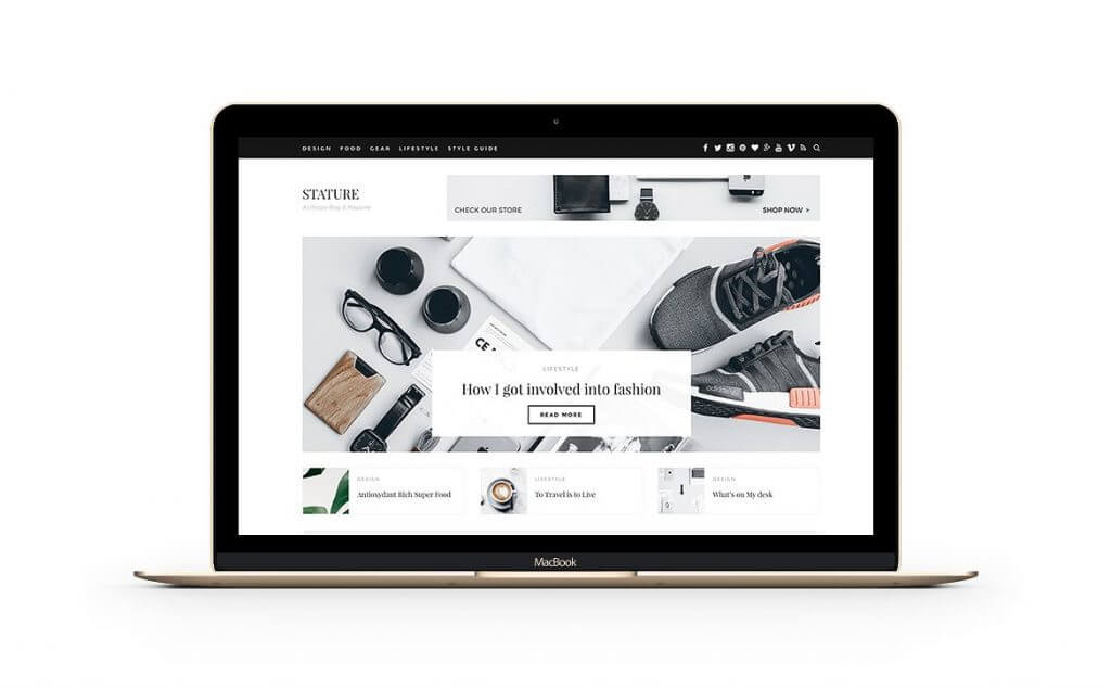 50 Modern, Minimal, Feminine WordPress Blog Themes: Stature