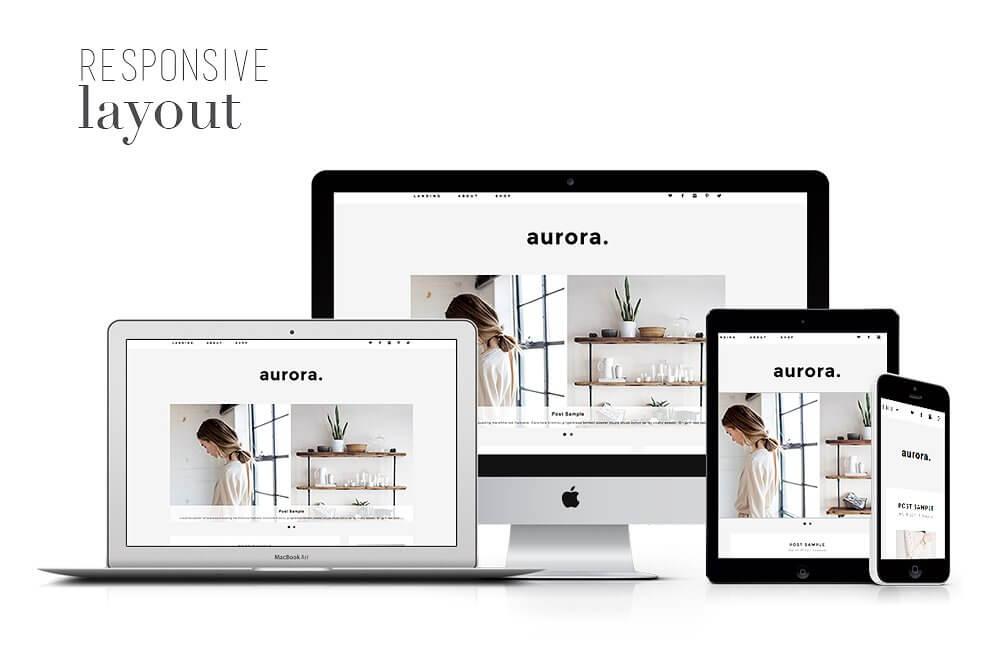 50 Modern, Minimal, Feminine WordPress Blog Themes: Aurora