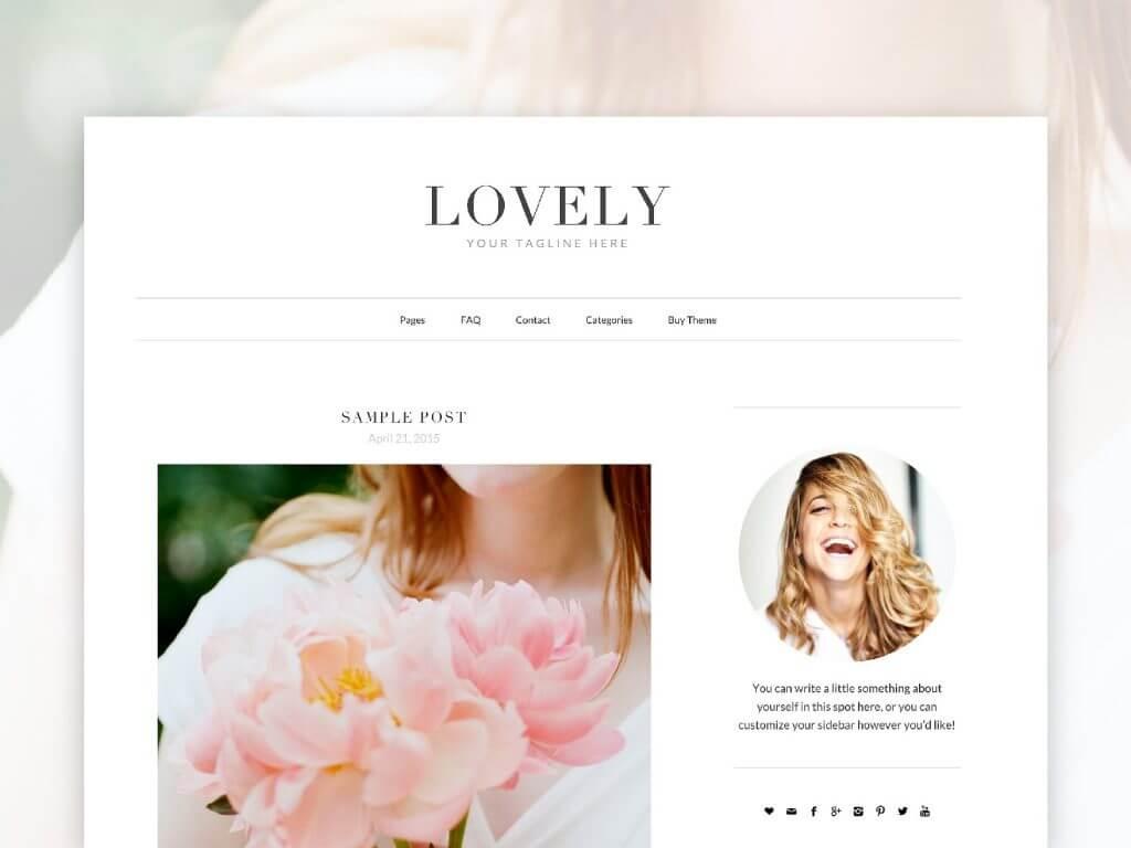 50 Modern, Minimal, Feminine WordPress Blog Themes: Lovely