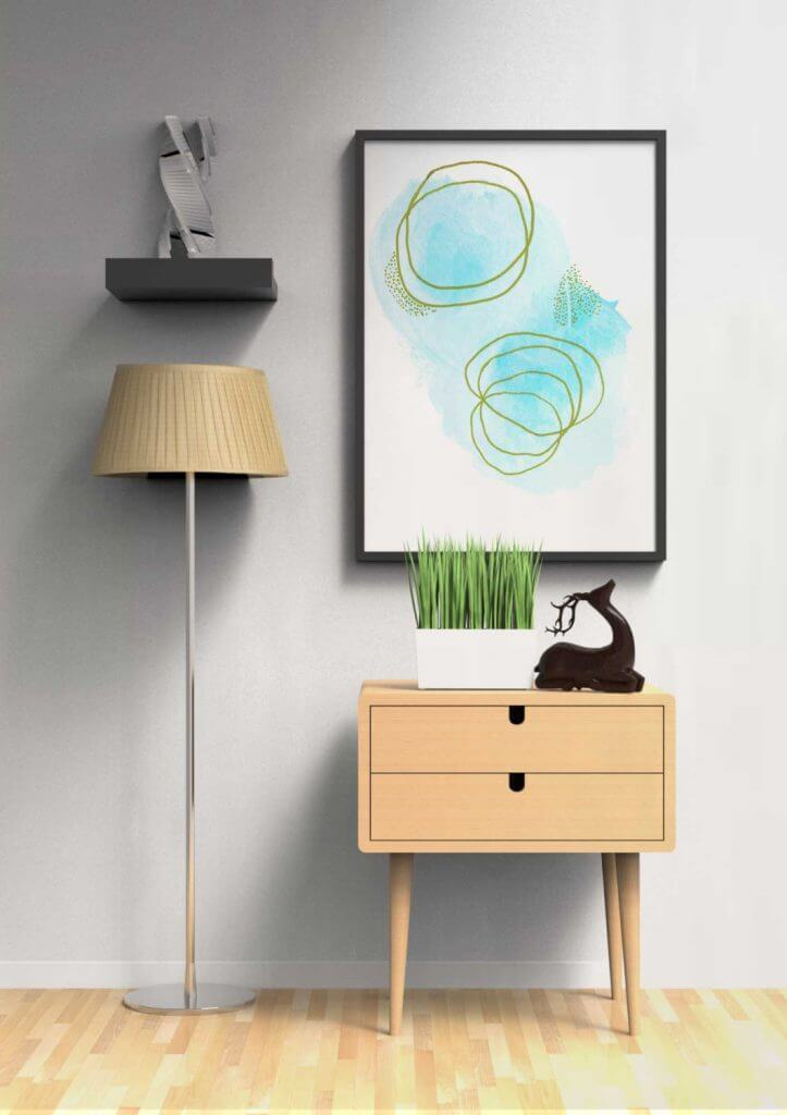 Meet the Artist: Adri Luna Studio on CreatingBeautifully.com - Light Blue Abstract by Adri Luna.