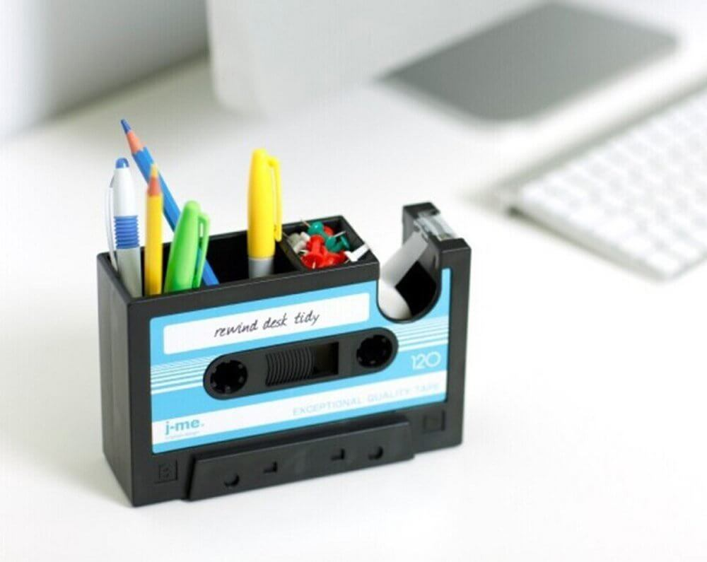 Or, if your friends love that retro vibe, this mix tape dispenser makes the perfect gift. See more in this Fun Gift Guide for Entrepreneurs at www.CreatingBeautifully.com
