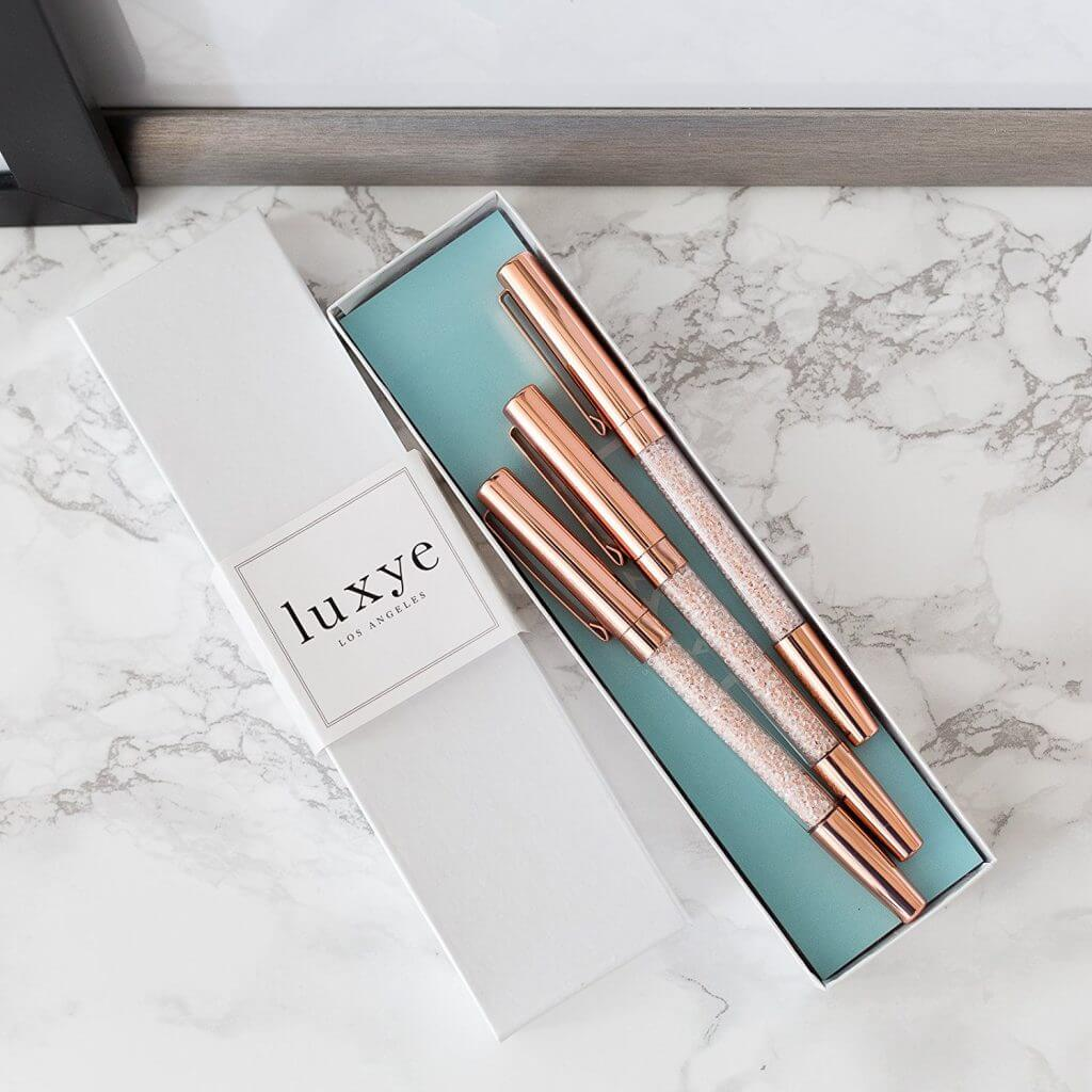 These rose gold pens are so Instagram worthy! What a beautiful gift for your favorite #GirlBoss. See more in this Fun Gift Guide for Entrepreneurs at www.CreatingBeautifully.com