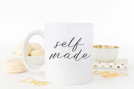 """This """"self made"""" mug makes a great gift for the entrepreneur in your life!"""