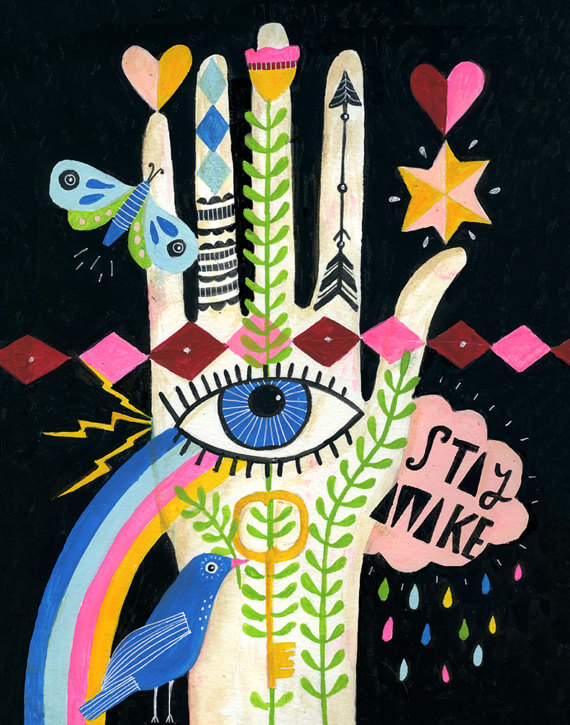 I'm in love this Artsy Etsy Gift Guide! Especially this Stay Awake Art Print by Lisa Congdon