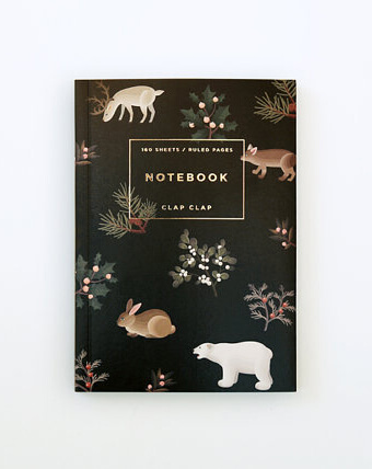 Check out this Artsy Etsy Gift Guide, including this Wild Animals Notebook by ClapClapDesign!