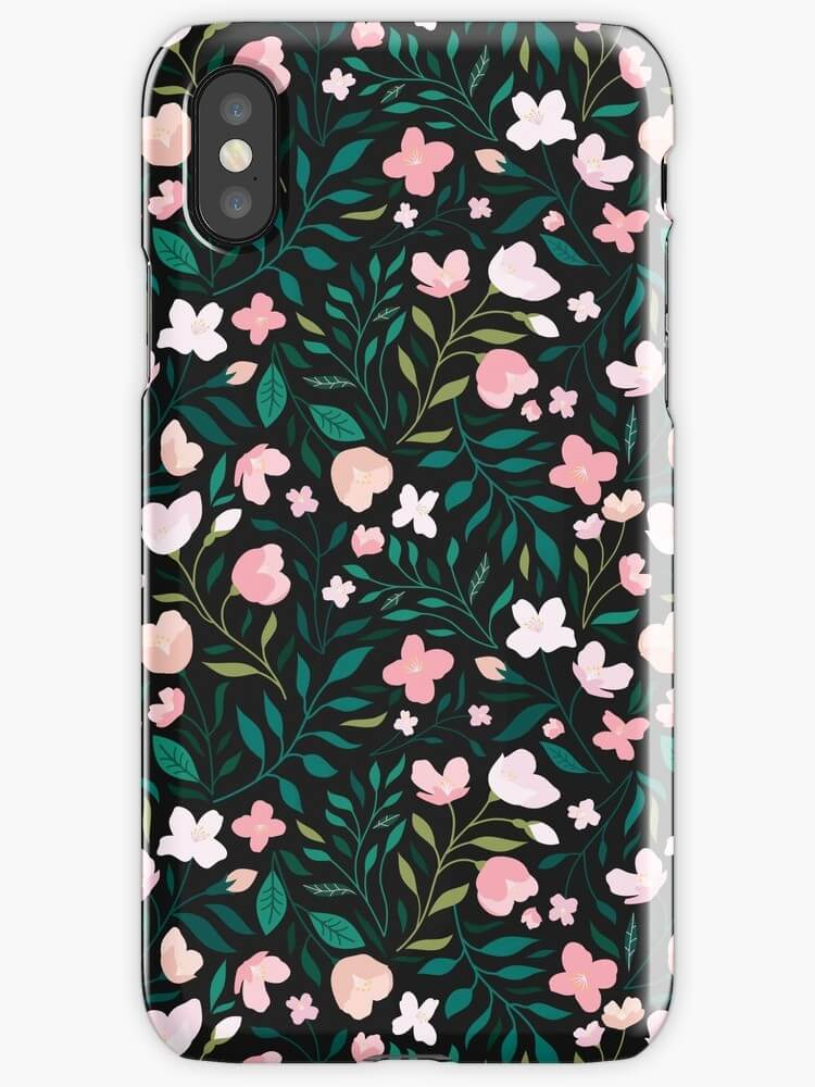 Wild Jasmine phone case by Carly Watts - Artists Making Passive Income on RedBubble: Meet Carly Watts on CreatingBeautifully.com