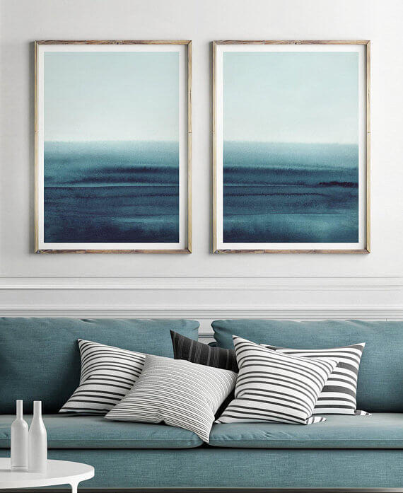 Selling Art Passively Online with Artist Basia Stryjecka: Ocean Prints from Little Valley Studio