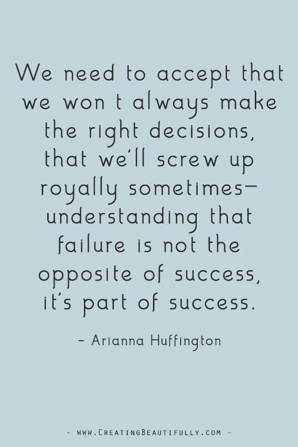 Inspiring Quotes from Powerful Women Entrepreneurs on CreatingBeautifully.com #inspiringquotes #quotesfromwomenentrepreneurs #girlbossquotes #AriannaHuffington