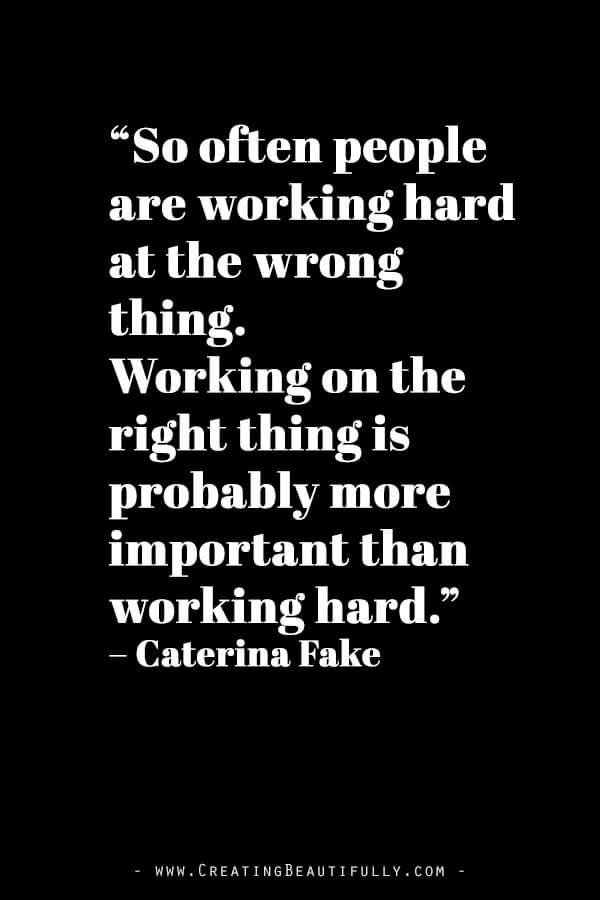 Inspiring Quotes from Powerful Women Entrepreneurs on CreatingBeautifully.com #inspiringquotes #quotesfromwomenentrepreneurs #girlbossquotes #CaterinaFake