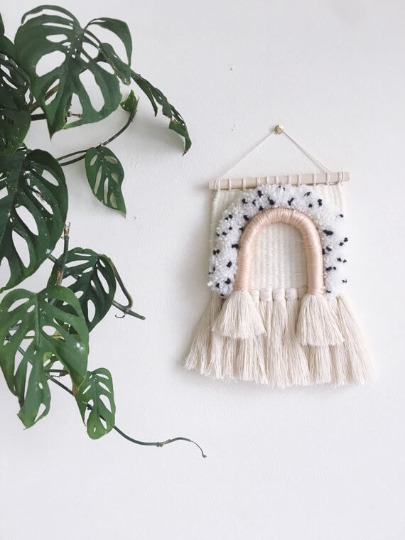 Shop Small This Holiday Season: Gift this Woven Wall Hanging from LoomCat on Etsy for under $50! #giftguide #shopsmall #shophandmade